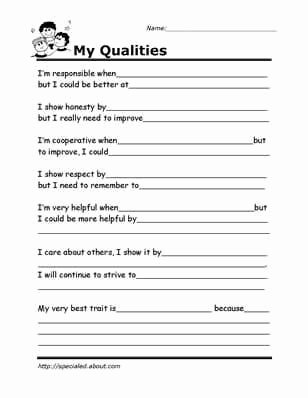 Social Skills Worksheets for Preschoolers top Printable Worksheets for Kids to Help Build their social