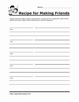 Social Skills Worksheets for Preschoolers top Printable Worksheets for Kids to Help Build their social
