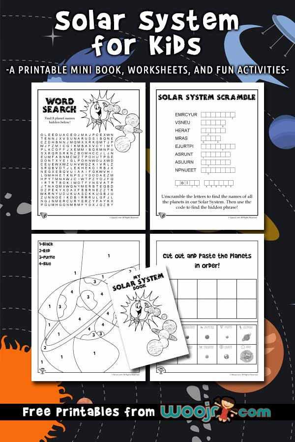 Solar System Worksheets for Preschoolers Awesome solar System for Kids