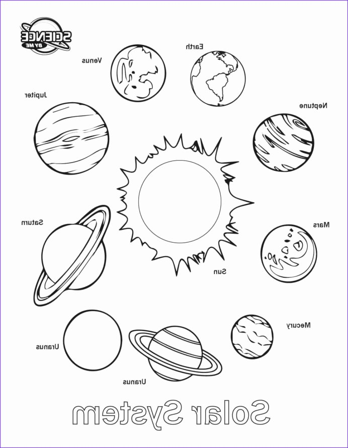 Solar System Worksheets for Preschoolers Best Of Coloring solar System Sheet Free Printable Sheets Awesome
