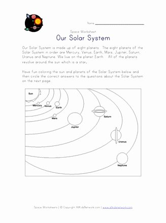 Solar System Worksheets for Preschoolers Fresh solar System Worksheet