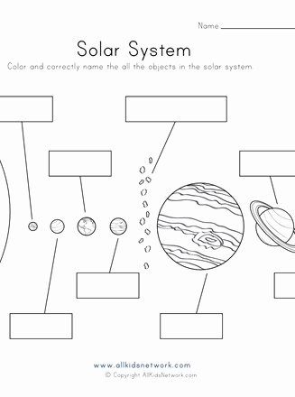 Solar System Worksheets for Preschoolers top Objects Of the solar System Worksheet