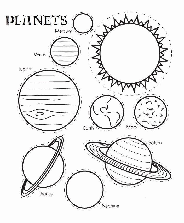 Solar System Worksheets for Preschoolers Unique Free Printable solar System Coloring Pages for Kids