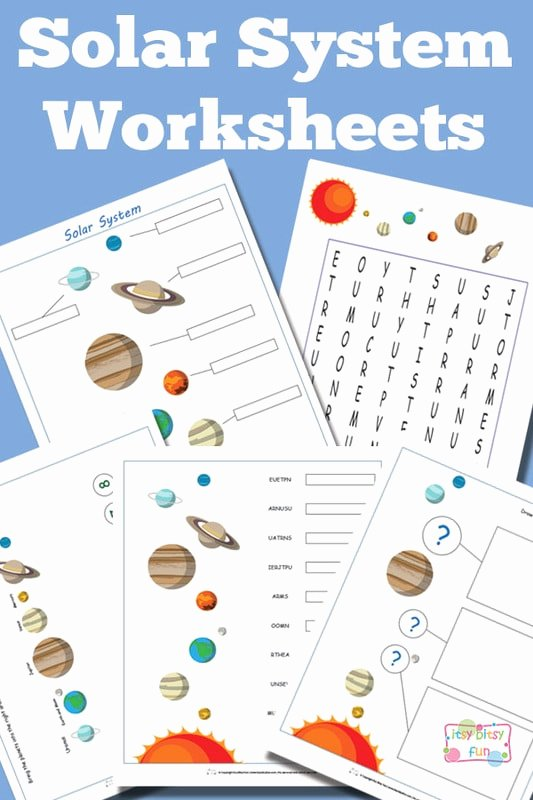 Solar System Worksheets for Preschoolers Unique solar System Worksheets for Kids Itsybitsyfun
