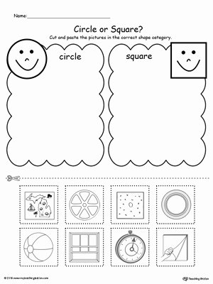Sorting Worksheets for Preschoolers Lovely Shape sorting Place the Circles and Squares Into the