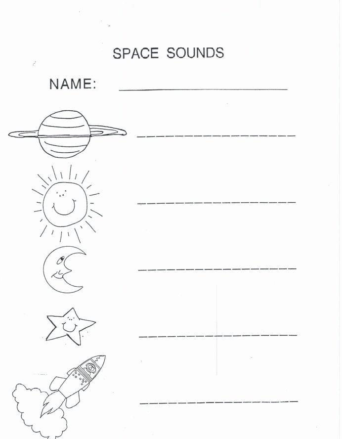 Space Worksheets for Preschoolers Best Of Outer Space Worksheets for Kids Printable and Science