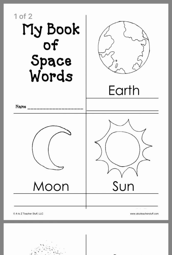 Space Worksheets for Preschoolers Best Of Space Worksheets for Preschool solar System Coloring Page