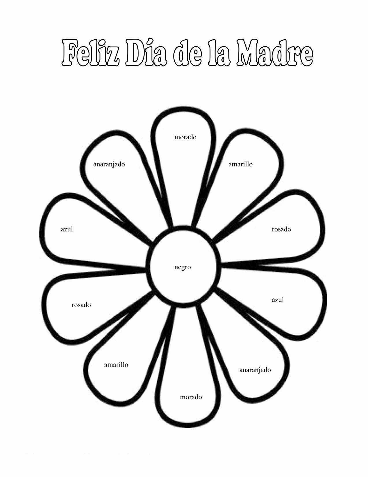 Spanish Color Worksheets for Preschoolers Fresh Colors Coloring for Preschool at Getdrawings Free Spanish