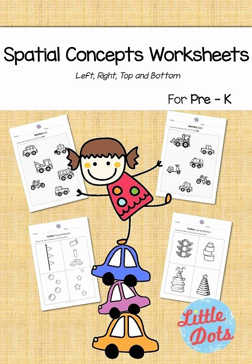 Spatial Concepts Worksheets for Preschoolers Beautiful Little Dots Studio Free Spatial Concepts Math Worksheets