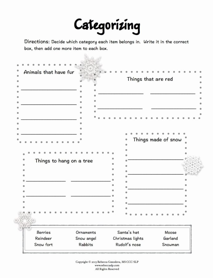 Speech therapy Worksheets for Preschoolers Beautiful Freebie Expressive Language Worksheets Winter Speech therapy