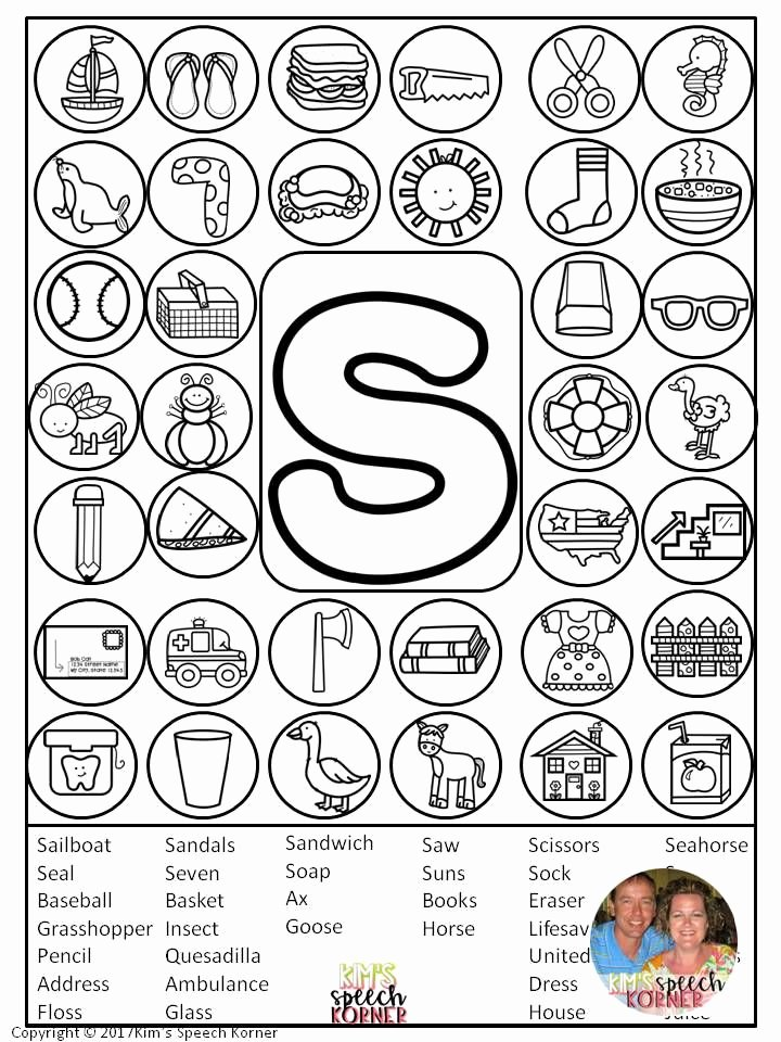 "Speech therapy Worksheets for Preschoolers Unique Dot ""artsy"" Articulation Activities Worksheets with"