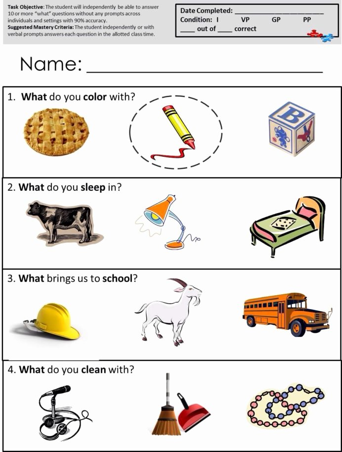 Speech therapy Worksheets for Preschoolers Unique Speech therapy Worksheets Autism Mathematics Arithmetic