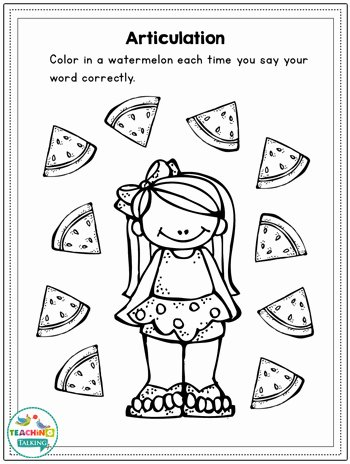 Speech Worksheets for Preschoolers Inspirational Summer Speech and Language Activities for Slps Teaching