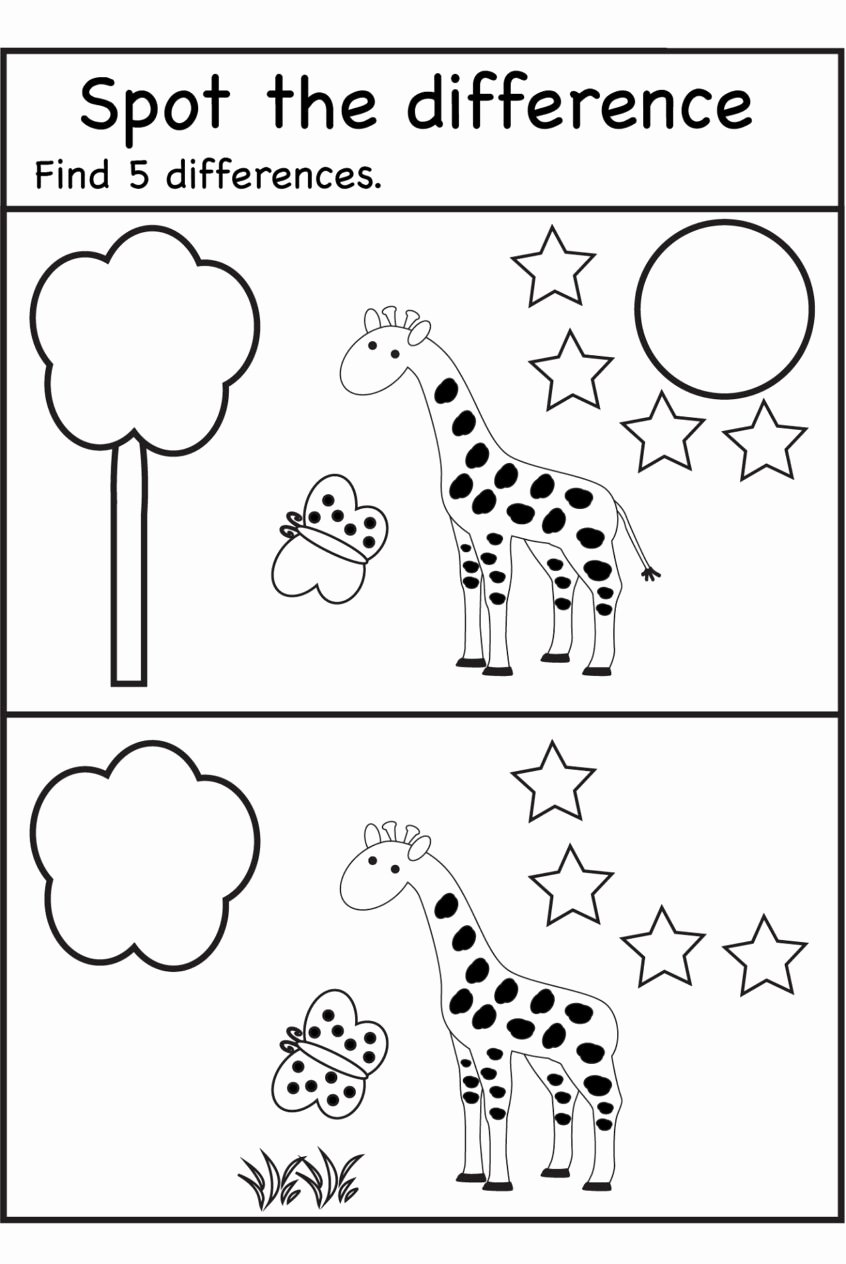 Spot the Difference Worksheets for Preschoolers Inspirational Worksheets Kindergarten Printables Spot the Difference