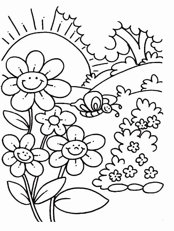 Spring Coloring Worksheets for Preschoolers Best Of 76 Spring Coloring for Kindergarten In 2020