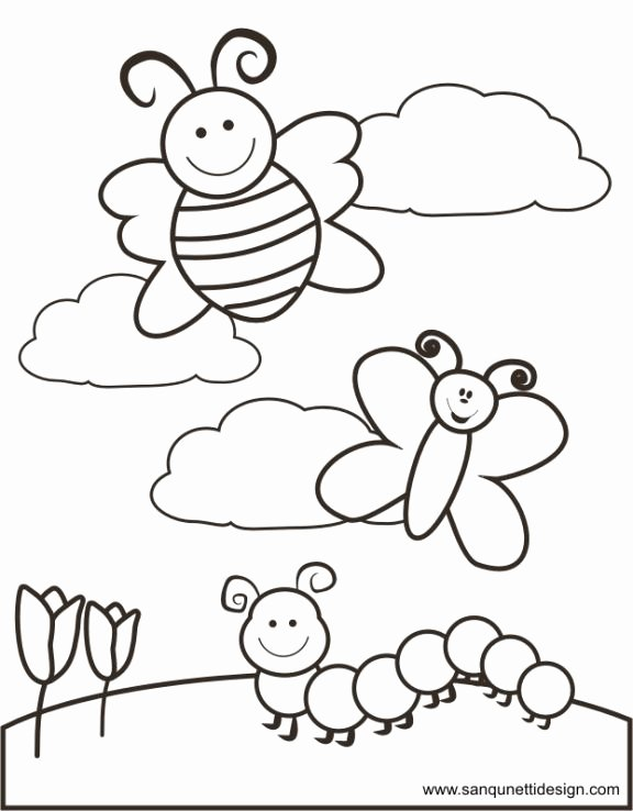 Spring Coloring Worksheets for Preschoolers Fresh Springtime Coloring Page