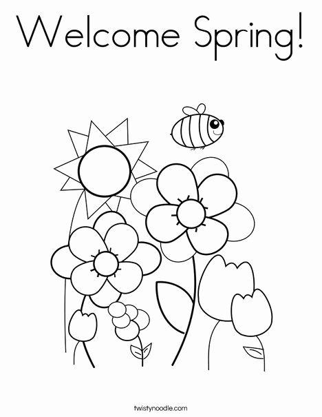 Spring Coloring Worksheets for Preschoolers Inspirational Wel E Spring Coloring Page