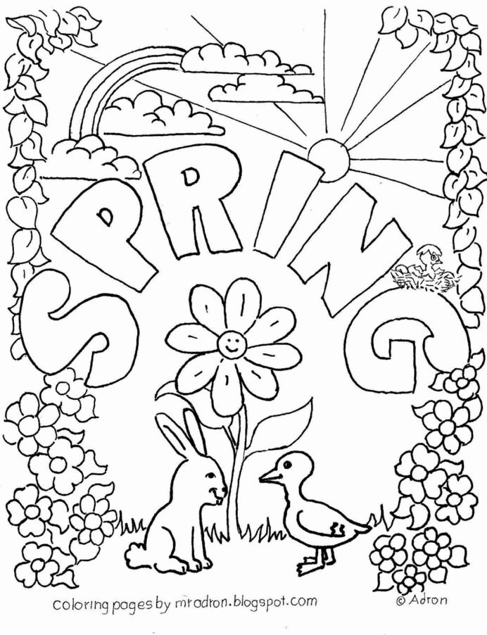 Spring Coloring Worksheets for Preschoolers New Coloring Book Remarkable Freeloring Sheets Pdf Image Ideas