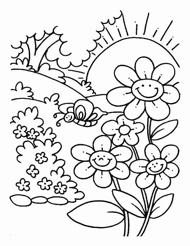 Spring Coloring Worksheets for Preschoolers top Nature Coloring Free Printable Spring for Preschoolers