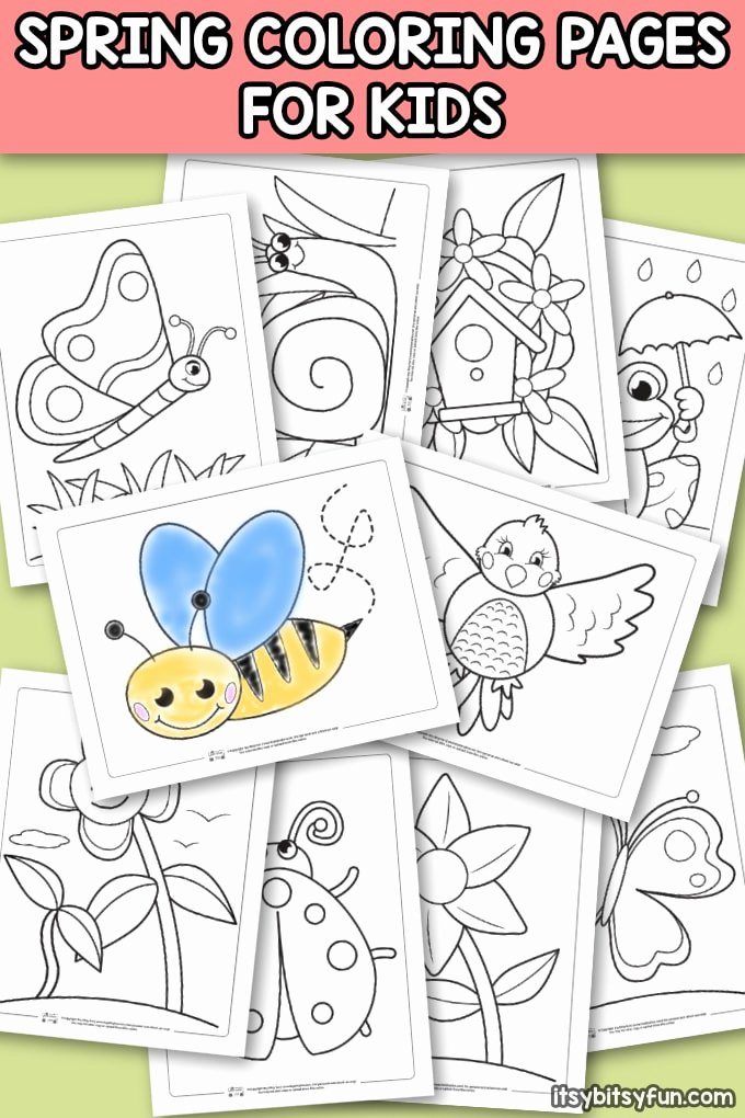 Spring Coloring Worksheets for Preschoolers top Spring Coloring Pages for Kids Itsybitsyfun