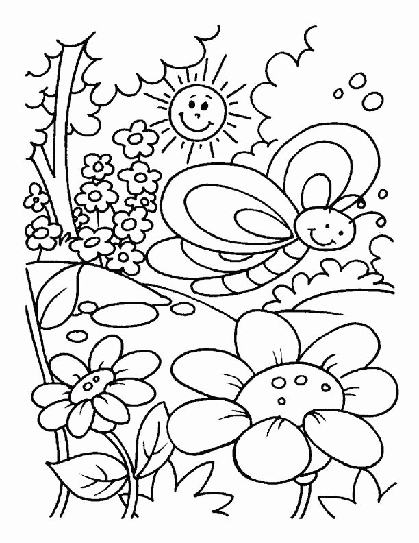 Spring Coloring Worksheets for Preschoolers Unique Outstanding Spring Coloring Sheets for toddlers Picture