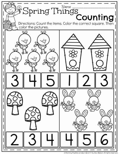 Spring Math Worksheets for Preschoolers Lovely Spring Preschool Worksheets Planning Playtime