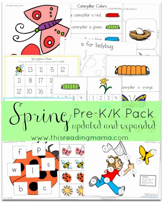 Spring Printable Worksheets for Preschoolers Beautiful Free Spring Pre K K Pack Updated and Expanded