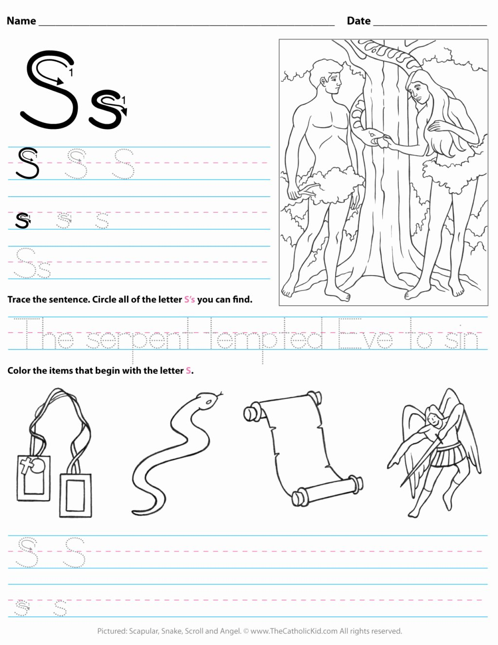 Spring Printable Worksheets for Preschoolers Beautiful Worksheet Freeetter Worksheets for Kindergarten