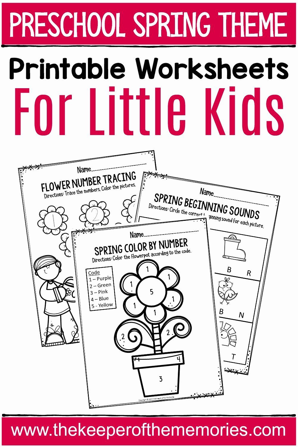 Spring Printable Worksheets for Preschoolers Best Of Spring Printable Preschool Worksheets the Keeper Of the