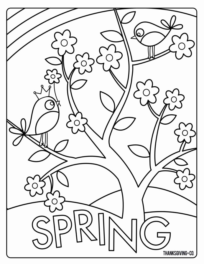 Spring Printable Worksheets for Preschoolers Unique Coloring Spring Coloringheets Happy for Kids Free Preschool
