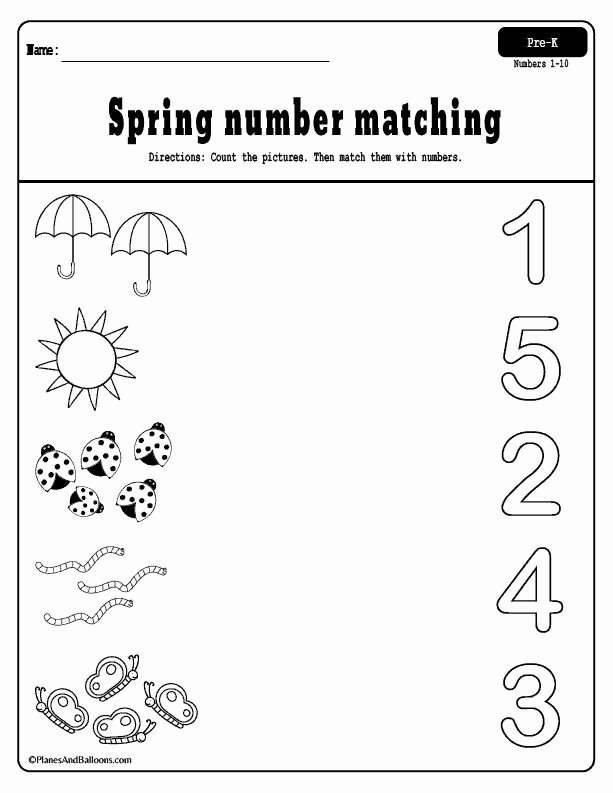 Spring Printable Worksheets for Preschoolers Unique Spring Preschool Worksheets Printable Pack Free Pre Numbers