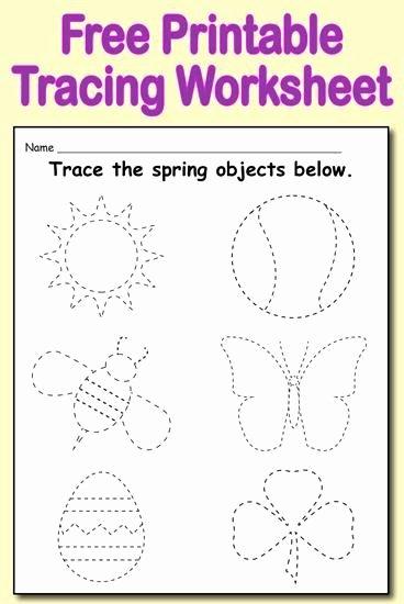 Spring Tracing Worksheets for Preschoolers Best Of Free Printable Spring themed Tracing Worksheet