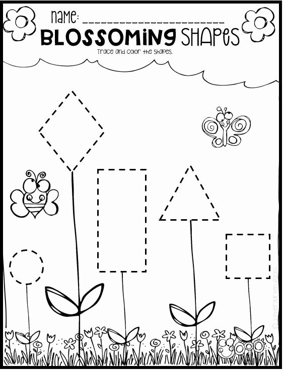 Spring Tracing Worksheets for Preschoolers Best Of Spring Math and Literacy Worksheets for Preschool Distance