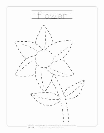 Tracing Coloring Pages Spring page 0002