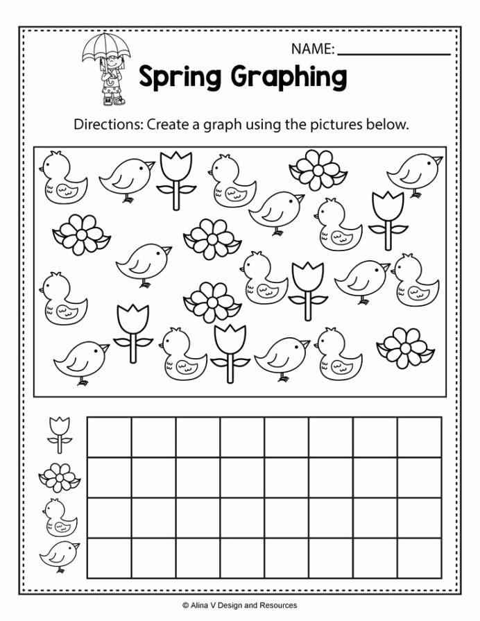 Spring Worksheets for Preschoolers Fresh Spring Graphing Math Worksheets and Activities for