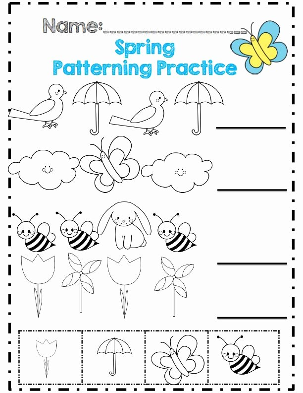 Spring Worksheets for Preschoolers Inspirational Spring Worksheet for Kids Crafts and Worksheets Preschool