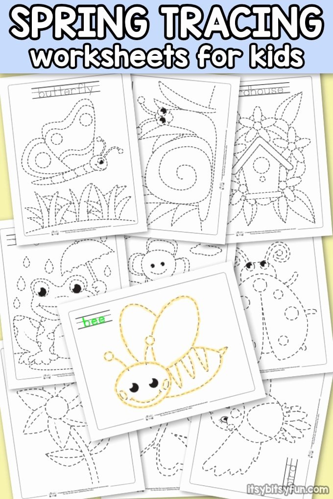 Spring Worksheets for Preschoolers New Spring Tracing Worksheets Itsybitsyfun