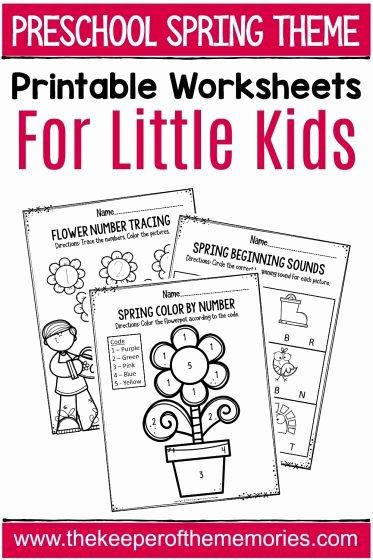 Springtime Worksheets for Preschoolers New Spring Printable Preschool Worksheets the Keeper Of the