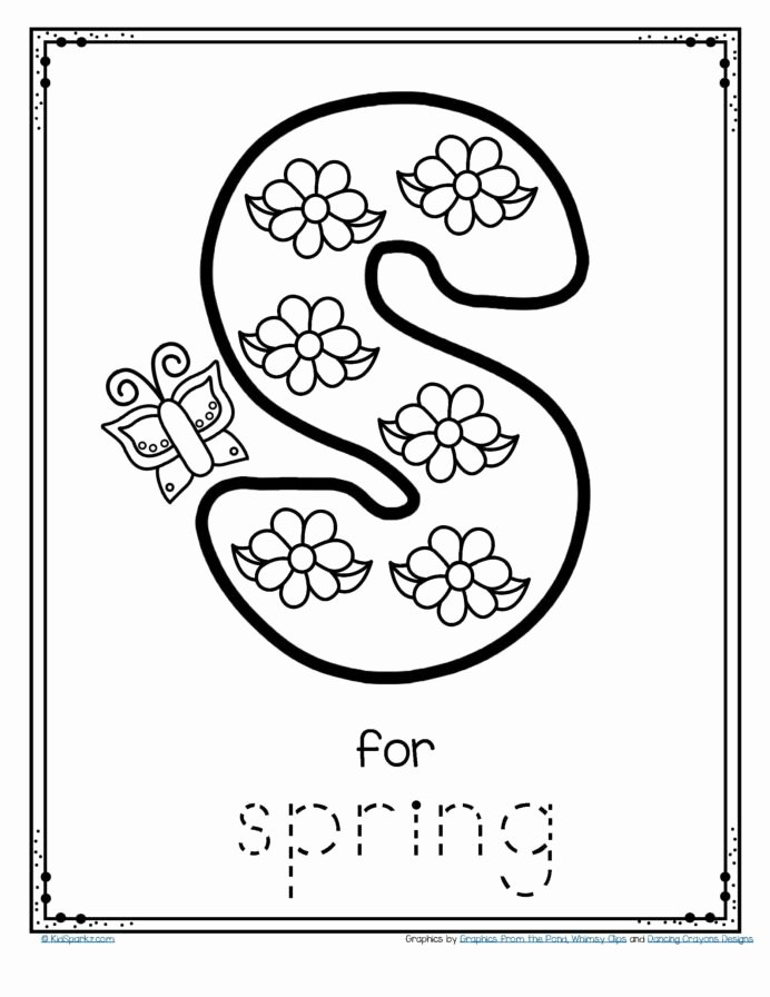 Springtime Worksheets for Preschoolers top Spring Coloring for Preschoolers Preschool Preschool Tracing