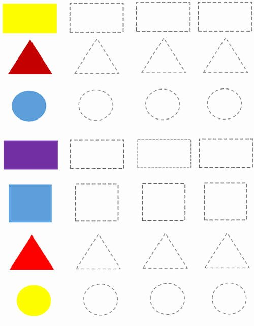 Square Shape Worksheets for Preschoolers Best Of Preschool Shapes Worksheets Circle Rectangle Triangle Square