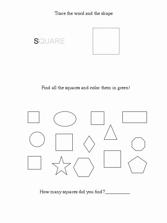 Square Shape Worksheets for Preschoolers Inspirational Free Square Worksheet