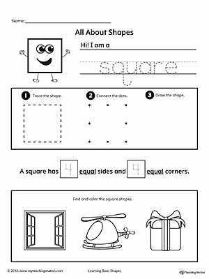 Square Shape Worksheets for Preschoolers Unique All About Square Shapes