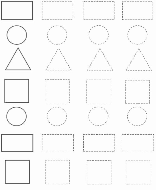 Square Worksheets for Preschoolers Awesome Preschool Shapes Worksheets Circle Rectangle Triangle Square