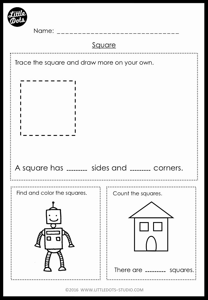 Square Worksheets for Preschoolers Best Of Kindergarten Math Shapes Worksheets and Activities