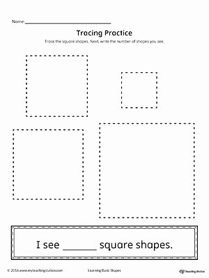 Square Worksheets for Preschoolers Inspirational Geometric Shape Counting and Tracing Square