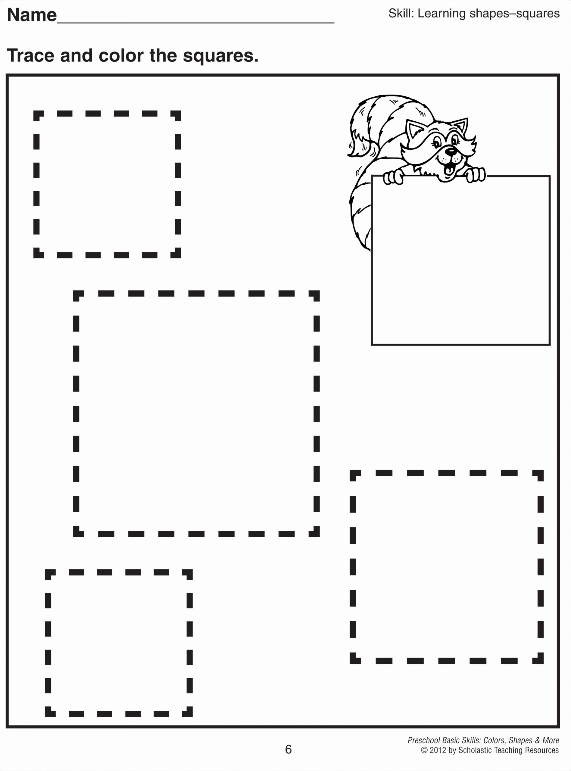 Square Worksheets for Preschoolers Inspirational Square Coloring Pages