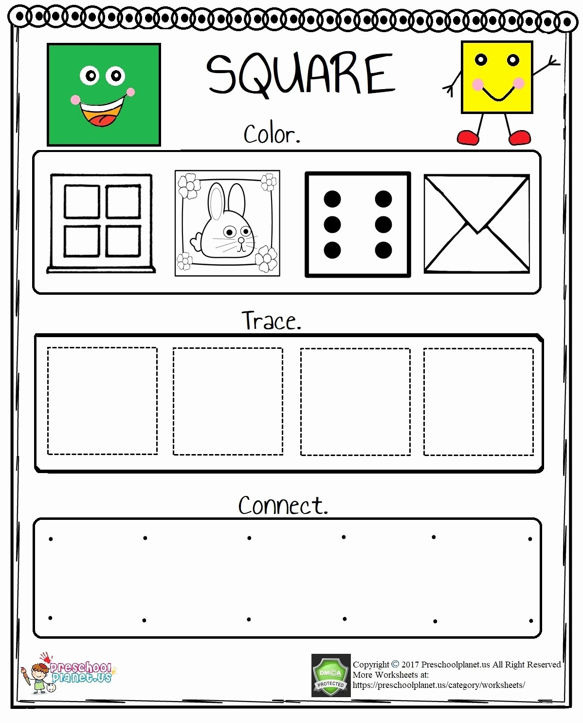 Square Worksheets for Preschoolers Lovely Square Worksheet for Preschool – Preschoolplanet