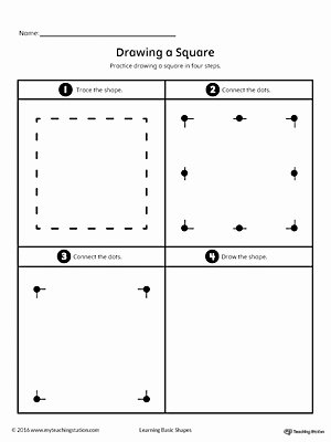 Square Worksheets for Preschoolers New Drawing A Square Shape