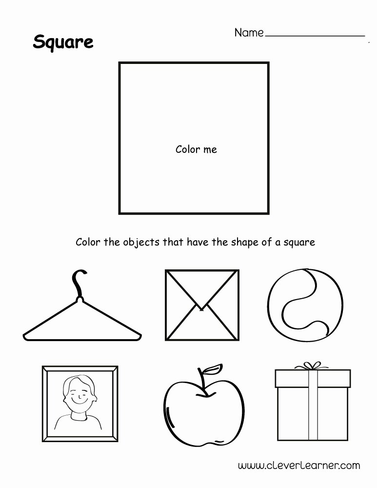 Square Worksheets for Preschoolers top Free Square Shape Activity Sheets for School Children