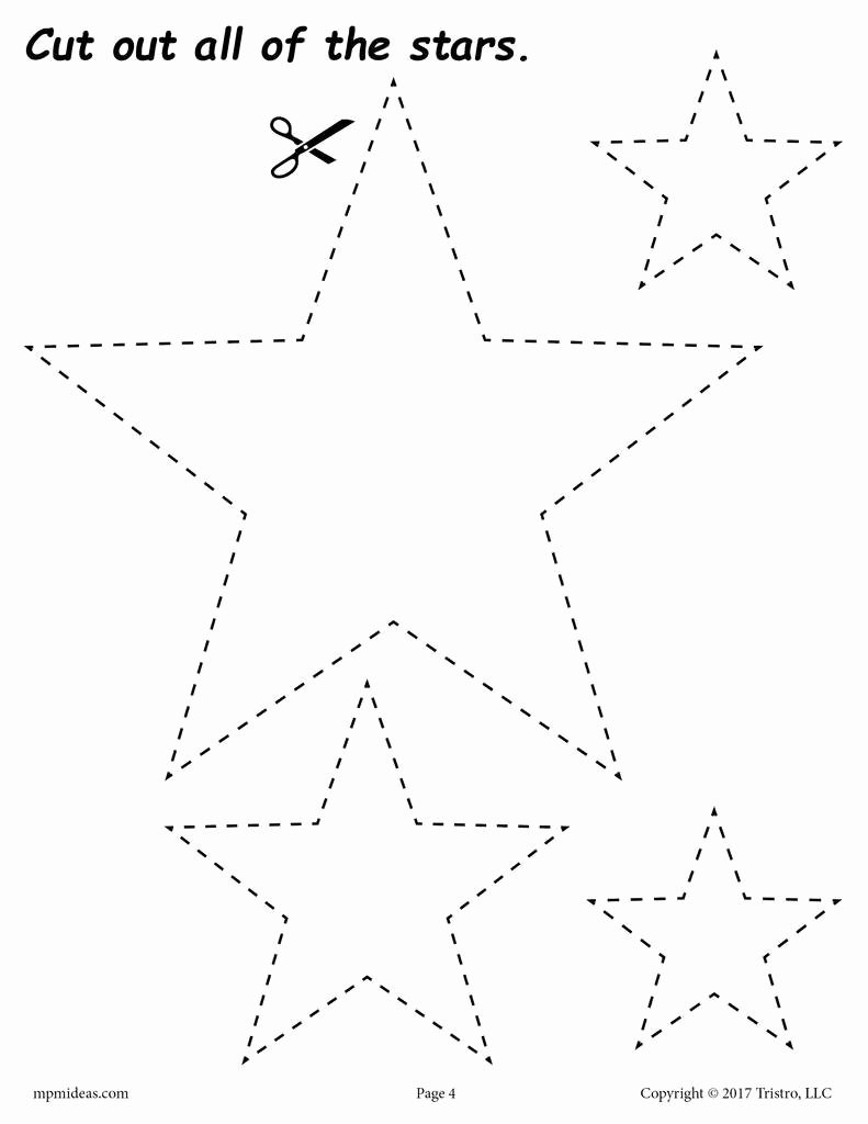 Star Worksheets for Preschoolers Beautiful Stars Cutting Worksheet